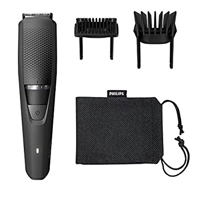 Philips Series 3000 Beard and Stubble Trimmer/Hair Clipper (0.5 mm - 20 mm), Full Metal Blades - BT3236/13 by Philips