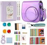 Annle Mini 11 Accesorios en una Caja Compatible con FujiFilm Instax Mini 11 Cámara instantánea - Flash Purple