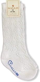 Gallo, Calcetines largos para niño de algodón cálido perforado liso de pescado