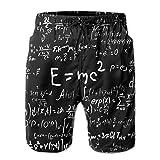 EWUEJNK Slips Natación Hombre,Calzoncillos Y Cálculos Científicos Impresos En 3D De Secado Rápido Pantalones Cortos De Natación, Poliéster Transpirable Cómodo Traje De Baño Ligero De Las Bermudas Nat