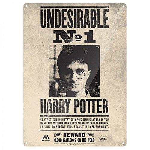 Harry Potter - A3 metalen bord - Undesirable No. 1 - Reward 10.000 galleons