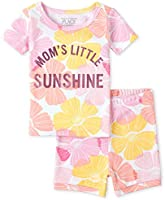 The Children's Place Baby Boys' Mommy And Me Foil Sunshine Matching Snug Fit Cotton 2-Piece Pajamas, White