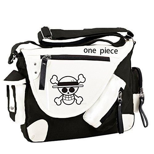 Siawasey, Handtasche / Umhängetasche / Messenger Bag, Motiv: japanischer Anime / Cosplay schwarz One Piece1