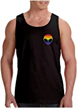 Camiseta de Tirantes Hombre - Ropa LGTB Orgullo Bandera Gay - Gay Alien Head Rainbow Flag