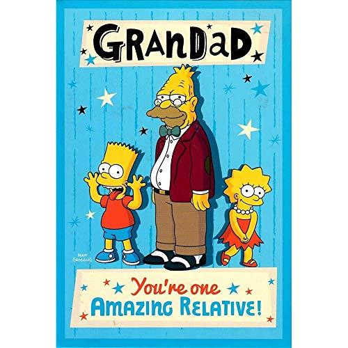 The Simpsons - Geburtstagskarte für Großvater