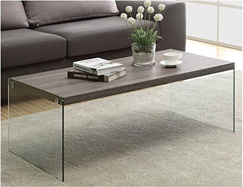 QYZ Nussbaum Farbe Holz und Glas Couchtisch, Kirschbaum Möbel Modernes Design Wohnzimmer Tisch Moderne Möbel Personalisiertes Wohnzimmer