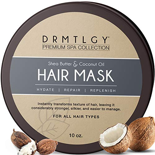 DRMTLGY Hair Mask with Shea Butter and Fractionated Coconut Oil. Deep Conditioning Hair Treatment for Dry, Damaged Hair.