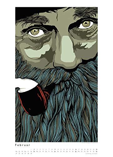 Kat Menschik illustriert Weltliteratur – Literarischer Posterkalender in Bildern 2020 – Wand-Kalender von DUMONT – Format 49,5 x 68,5 cm - 4