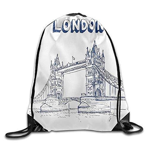 Etryrt Prämie Turnbeutel/Sportbeutel, London Tower Bridge In London British Architecture International Culture Icon Illustration Bags Mountain Backpack