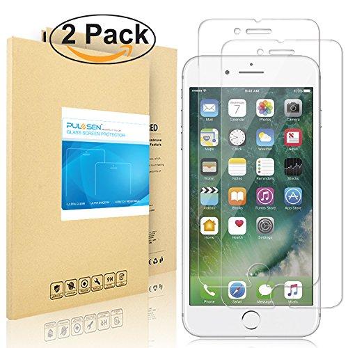 iPhone 7 Pellicola Protettiva, PULESEN [2-PACK] [3D Toccare Compatibile] iphone 7 protezione vetro temperato [Protezione Antigraffi, Ultra-Clear, Ultra resistente in] Protezione Protettore (4.7'')