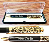 Crownlit Premium Pen,Roller Ball Pen with Quotes Motivational on it, FREE Display Box