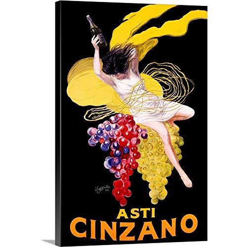 Cinzano Asti Aperitif Wine Vintage Canvas Wall Art Print, Wine Artwork