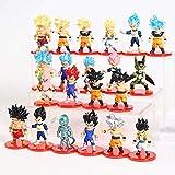 kyman 21pcs / Set Dragon Ball Z Figure Son Goku Gohan Vegeta Tronchi Buu Broly Broly Freeza Anime DBZ Modello Giocattoli da Collezione 6cm