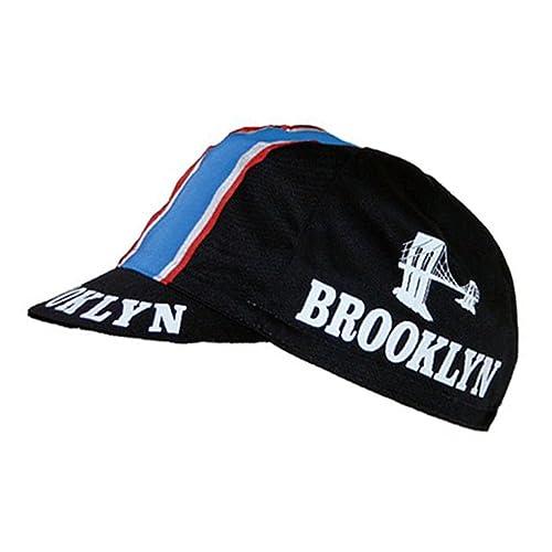 Retro cycle team cap Vintage brooklyn black