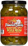 Famous Dave's Signature Spicy Pickle Relish 16oz Glass Jar (Pack of 3)...