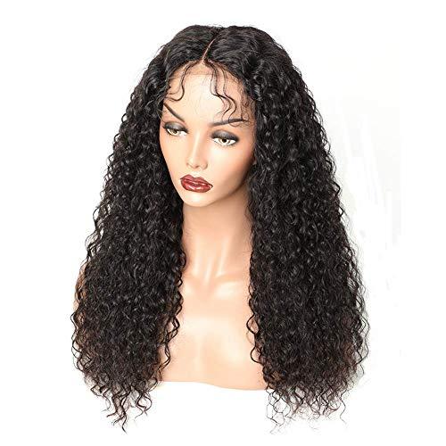 WIGSUEG Perruque Avant de Lacet avec des Cheveux de bébé brésilienne Avant de Lacet Perruques de Cheveux Humains pour Les Femmes Noires Perruque en De