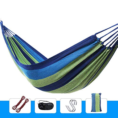 Camping hangmat Hangmat Rollover Outdoor Canvas Swing Enkel Dubbel Comfortabele Portable Tuin Reizen (Color : Style 4, Size : 200 * 80cm)