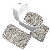 OMUSAKA Alfombrillas de baño Stone Antideslizante Soft Toilet Memory Foam? Baño Alfombras de baño Decoración para el hogar Alfombrilla de Ducha