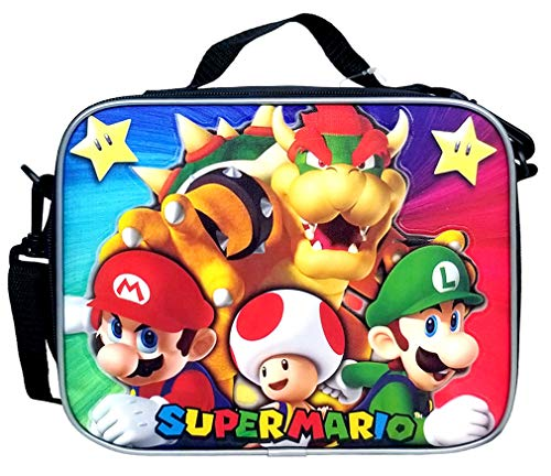Super Mario Insulated Lunch Bag - With All Characters