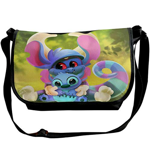 JONINOT Dibujos Animados Cute Stitch Bolsos de Hombro Crossbody Business Slim Commute Travel out-Going Cosmetics Sling Bag