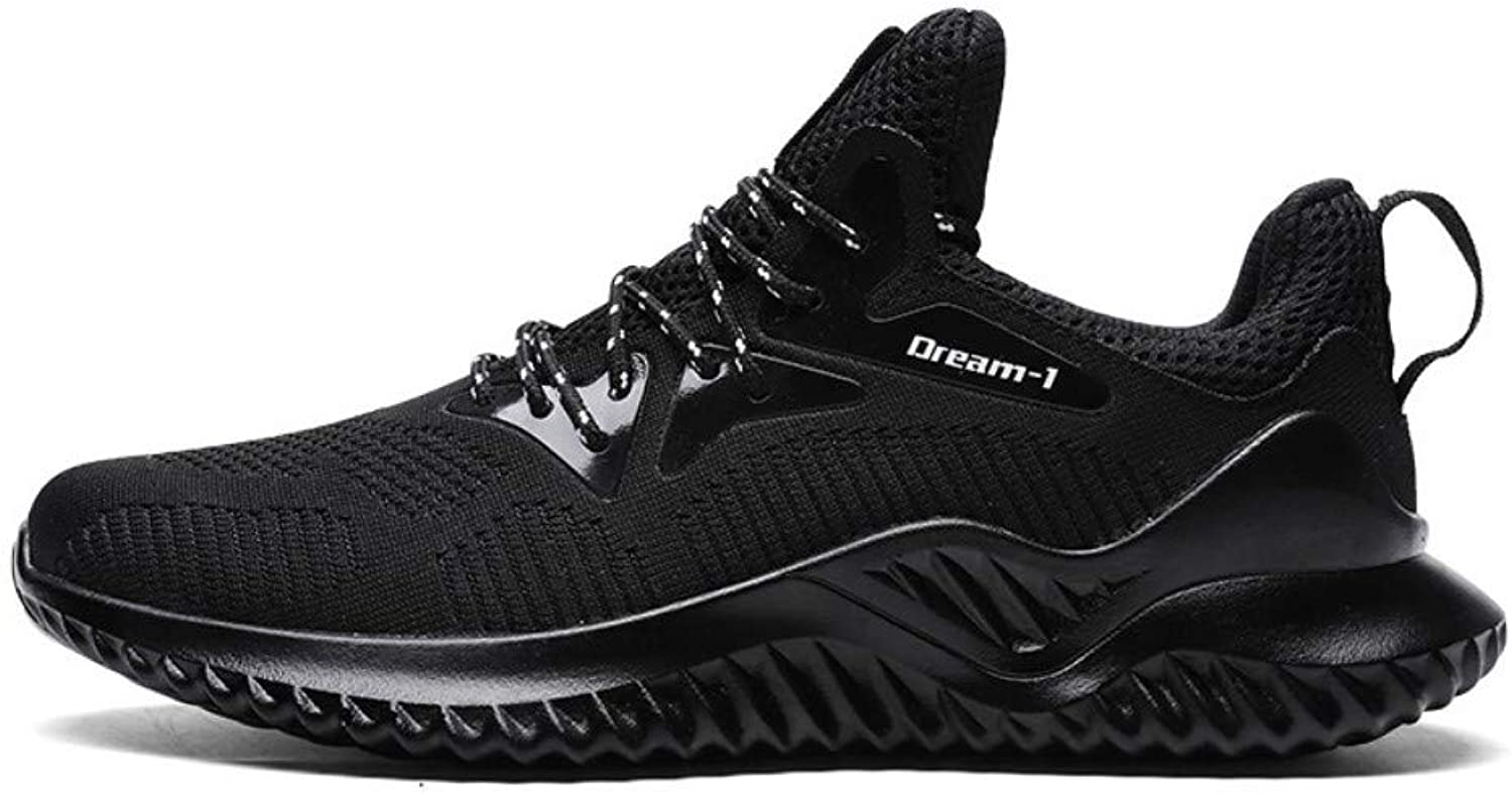 YAYADI Men'S Sneakers Four Seasons Running shoes Men Lace-Up Athletic Trainers Sports Male shoes Outdoor Walking Sneakers