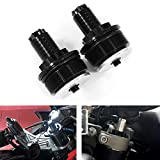 Xitomer CNC Fork Preload Adjusters, Fit for HONDA CB650F/ NC700/ VT1300, KAWASAKI Ninja650 /400, SUZUKI GSX600/ SV650, YAMAHA FZ07 and so on, Motorcycles Fork Preload Adjusters (Black)