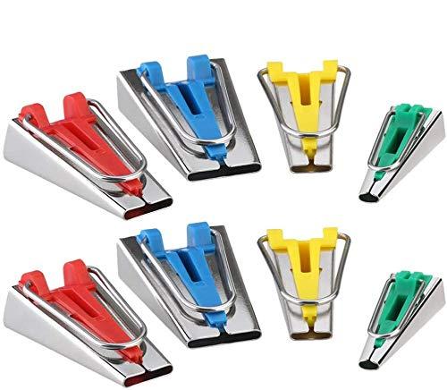 SUPVOX 8PCS Bias Tape Maker Set Fabric Sewing Quilting Tools Binding Tape Maker for DIY Craft