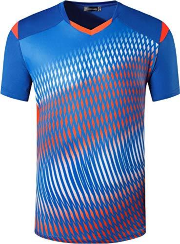 jeansian Herren-T-Shirt, schnelltrocknend, kurze Ärmel, für Golf, Tennis, Laufen, LSL111 - - Mittel