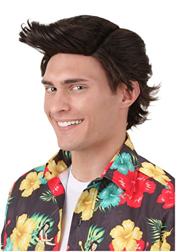 Ace Ventura Wig Adult Officially Licensed Ace Ventura Wig Standard Brown
