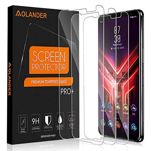 POVINMOS para ASUS ROG Phone 3 (ZS661KS)/ASUS ROG Phone III Cristal Templado Protector de Pantalla, 9H Dureza [Anti Arañazos] Protector [3 Pack]