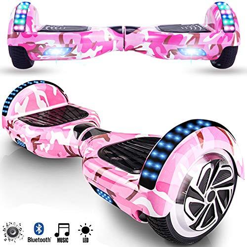 Magic Vida Hoverboard Roze Camouflage - 6.5- Bluetooth - Motor 700W - Snelheid 15KM/U - LED - Elektrische Skateboard Self Balance Scooter - voor Kinderen en Volwassenen