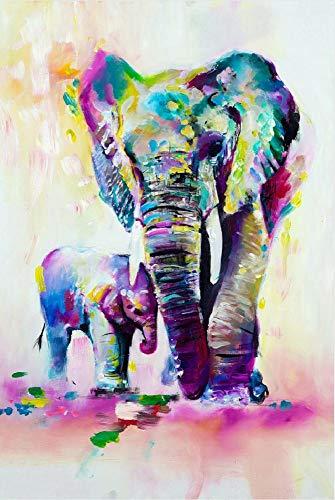 AYSUNJIE Adult Puzzles 1000 Pezzi Puzzle di Legno Bambini-Elefante Colorato Ed Elefantino-Regalo per Decorazioni per La Casa Festival Moderno Regalo Fai da Te Gioco Intellettuale 75X50Cm