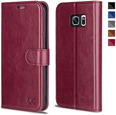 OCASE Galaxy S7 Edge Case TPU Shockproof Interior Protective Case Card Slot Kickstand Leather product image