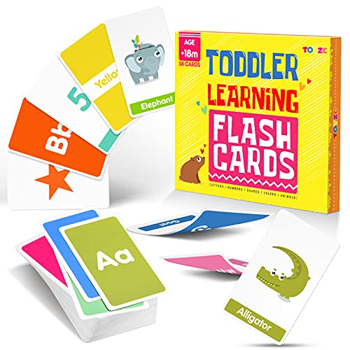 Toyze Toys for 1 2 3 4 5 6 Year Old Girls Boys, Flash Cards for Toddlers...