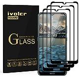 ivoler 3 Stücke Panzerglas Schutzfolie für Nokia 2.4, [Volle Bedeckung] Panzerglasfolie Folie Hartglas Gehärtetem Glas BildschirmPanzerglas für Nokia 2.4