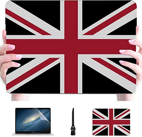 Case for Mac Union Jack Con Nero Della Bandi Plastic Hard Shell Compatible Mac 13inch MacBook product image