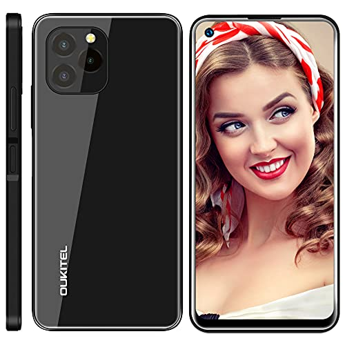 Telefono Movil OUKITEL C21 Pro, 4GB+64GB (SD 256GB) Android 11 Smartphone Libre, Octa-Core Dual SIM Moviles Baratos, 21MP 8MP Cámara, 4000 mAh Batería Smartphone, Face/Fingerprint Móvil Libre Negro
