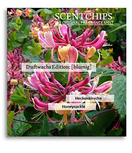 Feste Feiern Duftwachs Scentchips I 12x Aroma Heckenkirsche (Honeysuckle) Raumduft Melts Soja Wachs Wax Duft Tards für Aromalampe Duftlampe Diffuser