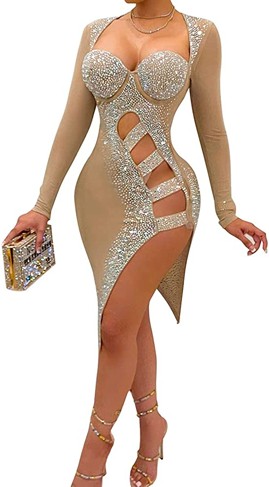 BeneGreat Women's Deep V Neck Sexy Sequins Strappy Seasonal Wrap Introduction Tassel Ranking TOP8 Mini B