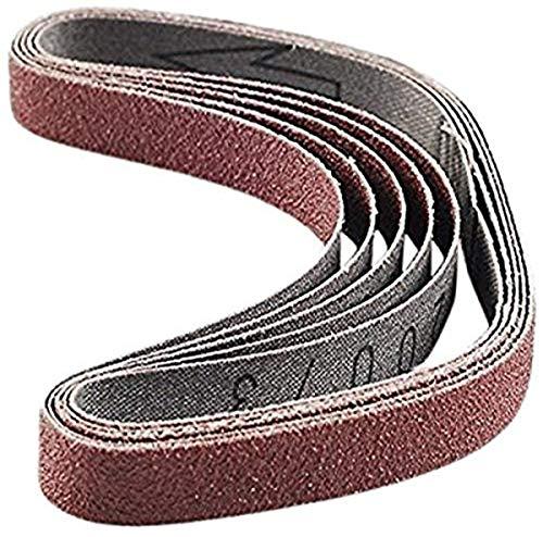 PROXXON 28582 Schleifbänder für BSL, Edelkorund, 5 Stück, Korn 120
