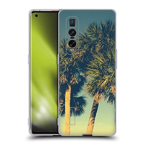 Head Hülle Designs Offiziell lizenzierte Olivia Joy StClaire Tropische Palmen Natur Soft Gel Hülle kompatibel mit Oppo Find X2 Pro