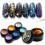 Nail Metal Metal Copper Wire Metal Painted Plastic Mirror Glue Pull Plastic Mirror Metal Plating Fake French Acrylic Nail Paste Punk Metal Square Fake Nail Paste Glue 6 Color