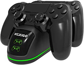 NexiGo PS4 Controller Charger, Wireless Charger Dual USB Fast Charging for Sony Playstation 4 Controller, DualShock 4 Char...