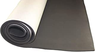 1//2 Thick Polyester 48 W X 54 L Charcoal Open Cell Foam Sheet