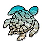 GT Graphics Sea Turtle Beach Ocean - 5' Vinyl Sticker - for Car Laptop I-Pad - Waterproof Decal