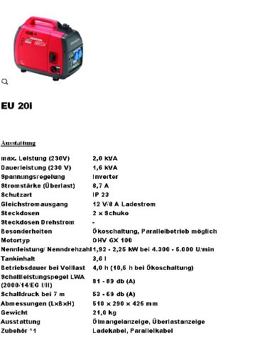 Power generator - generator - 2000 W - onleaded - holly producten STABIELO - holly sunshade 10