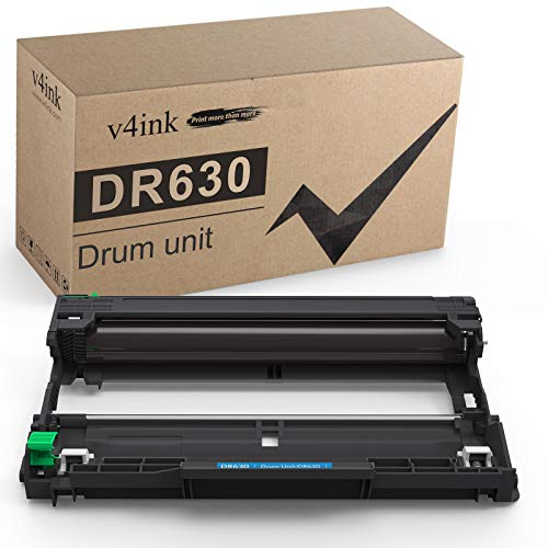 v4ink Compatible DR 630 Drum Unit Replacement for Brother DR630 DR-630 (Black 1-Pack) for Brother HL-L2340DW HL-L2300D HL-L2380DW MFC-L2700DW L2740DW DCP-L2540DW L2520DW HL-L2320D MFC-L2720DW L2740DW