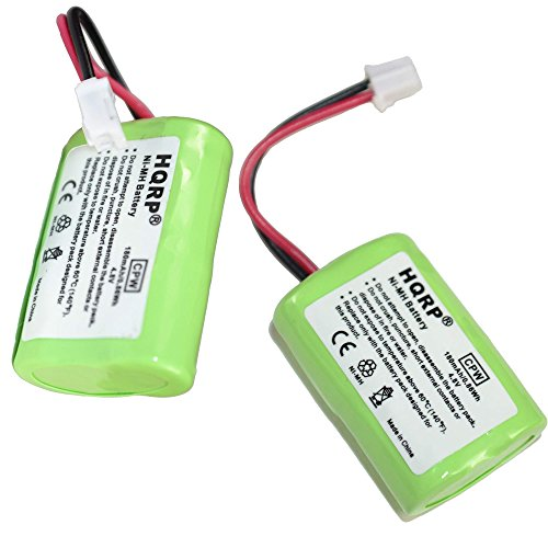 HQRP 2-Pack 180mAh Battery Compatible with PetSafe Yard & Park Remote Dog Trainer, PAC00-12159 FR-200P PDT00-12470 RFA-417 Collar Receiver Plus Coaster