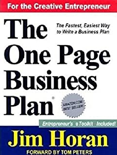 The One Page Business Plan for the Creative Entrepreneur