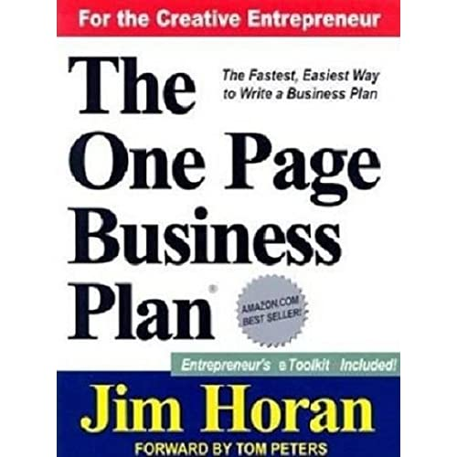 the one page business plan by jim horan and tamara monosoff